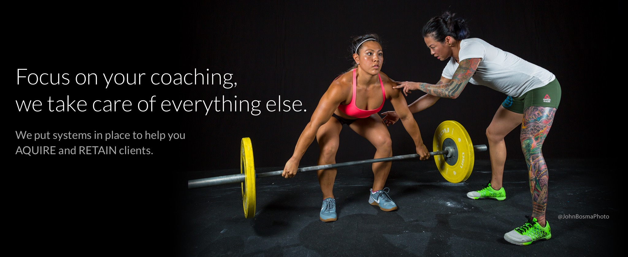 Diane Fu (Fubarbell and San Francisco CrossFit) and Jamie Hagiya (CrossFit Games Regionals Athlete and Owner of Torrance CrossFit) are two happy PushPress Clients.